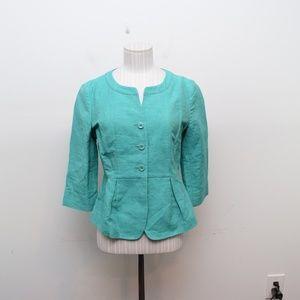 Max Mara Weekend Jacket, 4 Teal People Linen